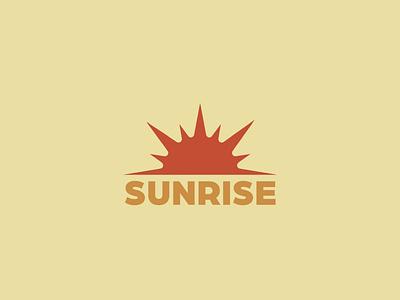 Sunrise logon typography branding logo vector illustrator illustration graphic design design
