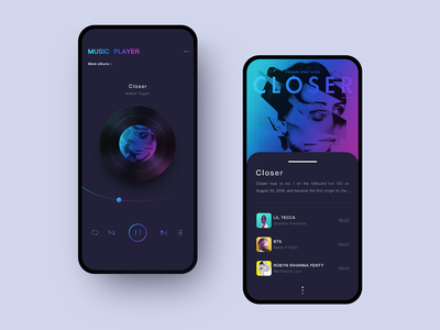 Music 01 design colors uidesign