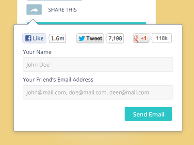 Share UI Modal