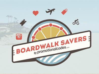 Boardwalk Savers Blogger's Edition Banner boardwalk savers blog banner email banner newsletter banner logo promotionalcodes
