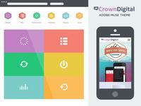Crown Digital Adobe Muse Theme on Themeforest