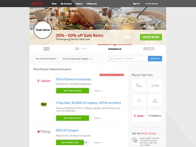 Co-Brand Design Concept shopping co branding online shopping online coupons deals discounts landing page layout web design
