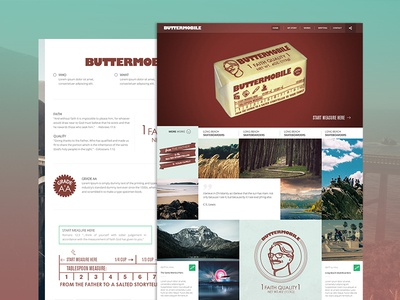 Buttermobile Landing Page buttermobile butter landing page website design web design ui design graphic arts photo based site ux personal client