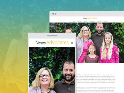 Grace Advocates Web Design non profit missionary website landing pages missions responsive clean  simple