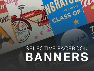 Selective Facebook Banner facebook banners banners ad banner facebook typography graphic arts promotionalcodes.com graphic design arts