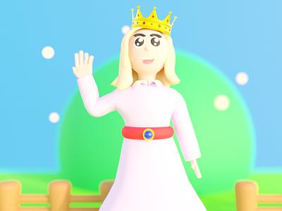 Princess lowpoly character graphic design motion graphics artwork art branding ui logo illustration design blender3d blender 3d blender 3d