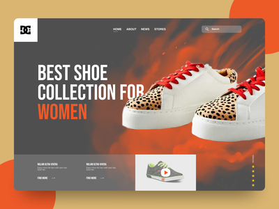 Women Shoe Store - Landing page ui uiux uidesign landingpage shot desiglounge website designer website concept website design shopping shoes mockup trending trending ui trendy design dribble shot fashion women fashion fashion design shoes shoes store