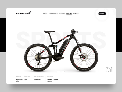 HAIBIKE landing Page sports bike sports branding sports uiux dribble ui  ux bike ride bike biker fashion design bikes illustration dribble shot website design design trendy design designs landingpage ui uidesign