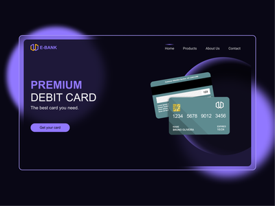 Debit Card Landing Page trendy landing page ui landing page design ux desgin ux design payment method website template modernism minimal dribbble best shot website builder debit card payment website design dribble shot landingpage uiux trendy design uidesign ui