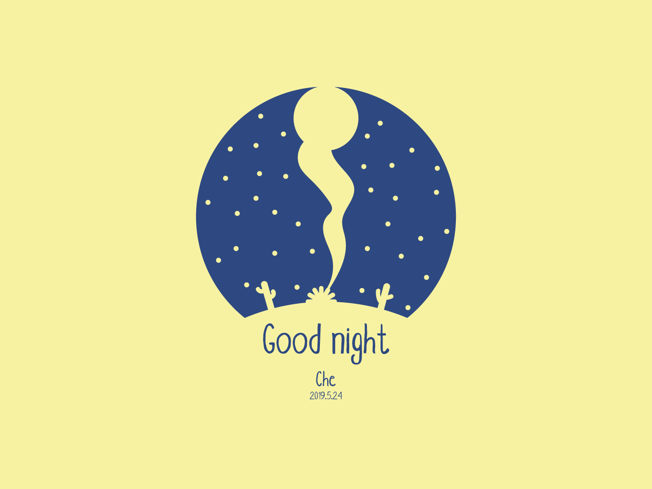Goodnight pattern logo illustration design