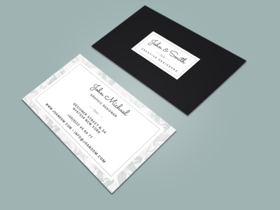 JOHN & SMITH businesscard typography illustration branding