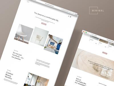 MINIMAL - furniture store design ui logo branding minimal shopping cart cart store css html5 template webdesign