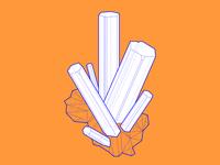 Aquamarine crystal wireframe