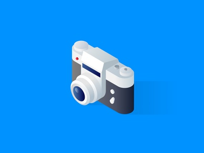 Isometric camera icon zoom dslr memory photography lens photo camera vector isometric illustration icon 3d