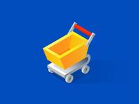Isometric cart icon