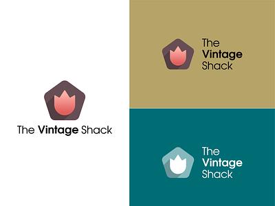 The Vintage Shack - Logo Concept 1 graphic design minimal vector logo illustrator icon flat design branding