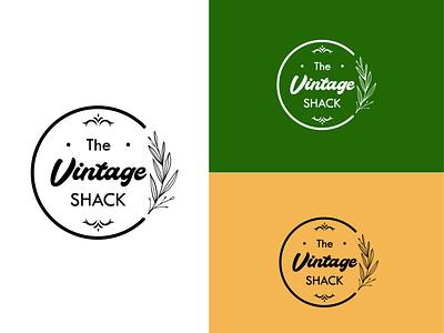 The Vintage Shack - Logo Concept 2 vintage vintage font botanical vector logo illustrator graphic design design flat branding