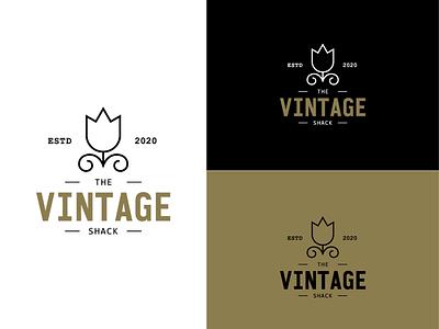 The Vintage Shack - logo Concept 3 typography vintage vector logo graphic design design branding