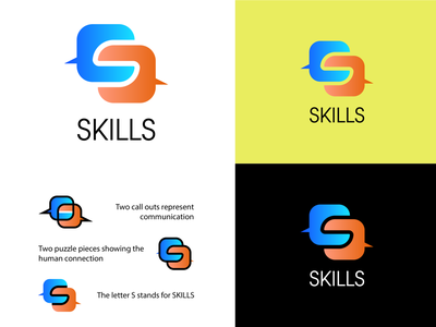 SKILLS  - Counseling & Academic Services - Logo Concept minimal icon illustrator flat vector logo graphic design design branding