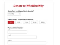 Donation Selection