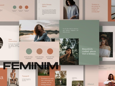 Feminim Presentation Template elegant modern clean unique google slides slides slide features design user interface ux ui responsive powerpoint templates keynote presentation template template presentation feminine