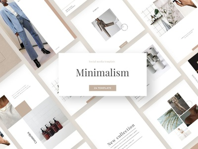 Minimalism - Social Media Template templates design modern fashion blogger blog posts post story stories instagram banner instagram stories instagram post instagram template instagram social media templates template social media pack social media template social media