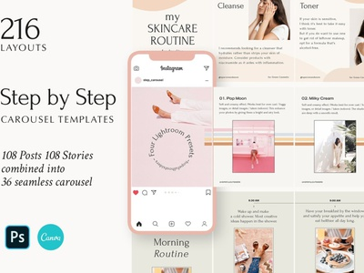 Step by Step - Instagram Templates carousel color advertising templates story stories instagram post template instagram story template instagram templates instagram banner instagram post design branding social media template social media template instagram posts instagram stories instagram template instagram