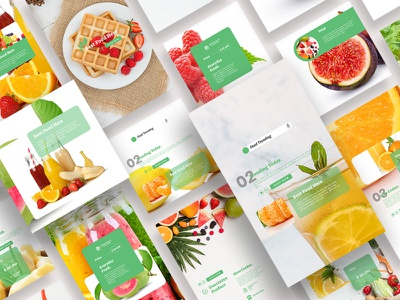 Fresh Food Beverage Instagram Posts & Stories story stories post social media pack instagram banner instagram post food and drink food app neon design branding social media template social media template instagram posts instagram stories instagram template instagram food fresh