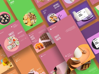 Stylist Colorful Instagram Posts & Stories stories post colorfull desserts healthy food foods food social media template social media blogger blog instagram stories template instagram stories pack instagram template instagram banner instagram post instagram stories instagram posts instagram colorful