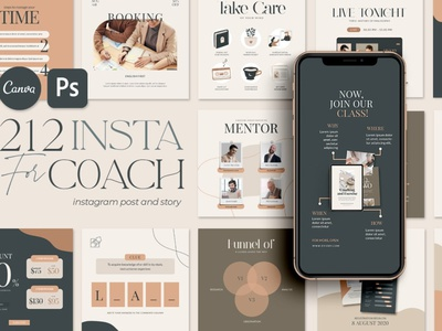 Instagram eCourse Templates coach ecourse templates ecourse instagram instagram template instagram stories instagram posts template social media social media template branding design instagram post instagram banner instagram templates instagram story template instagram post template stories templates advertising