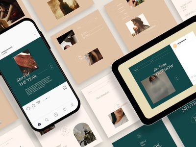 Neat & Beauty Instagram Carousel Posts Template instagram instagram template instagram stories instagram posts template social media social media template branding design instagram post instagram banner social media pack posts stories story instagram story template post modern blog blogger