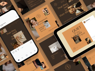 Classy & Elegant Instagram Posts Template instagram instagram template instagram stories instagram posts template social media social media template branding design instagram post instagram banner social media pack posts stories story instagram story template post modern blog blogger