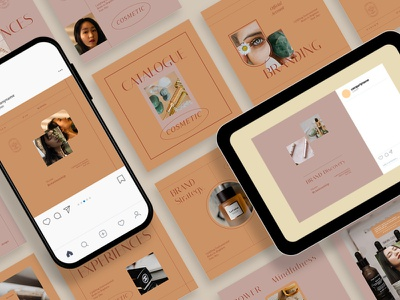 Natural Cosmetic Instagram Templates blogger blog modern post instagram story template story stories posts social media pack instagram banner instagram post design branding social media template social media template instagram posts instagram stories instagram template instagram