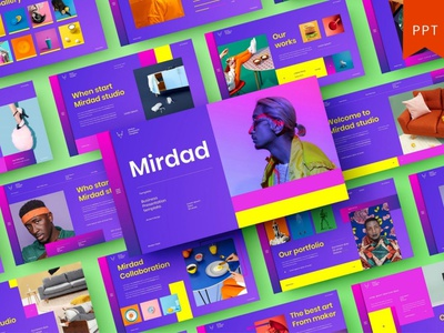 Mirdad - Presentation Template template presentation powerpoint multipurpose template multipurpose keynote google slides web development web design website modern clean unique corporate company portfolio photography studio pitch deck colorful