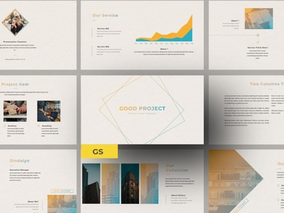Good Project Multipurpose Template template presentation powerpoint multipurpose template multipurpose keynote google slides web development web design website modern clean unique corporate company portfolio photography studio pitch deck colorful