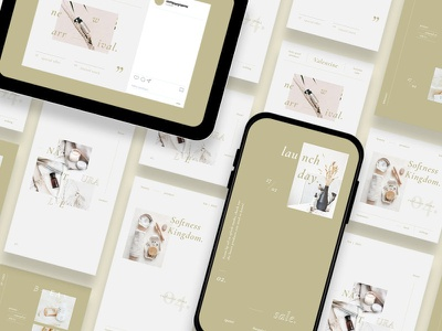 Bohemian Style Instagram Posts & Stories instagram instagram template instagram stories instagram posts template social media social media template branading design instagram post instagram banner social media pack posts stories story instagram story template post modern blog blogger