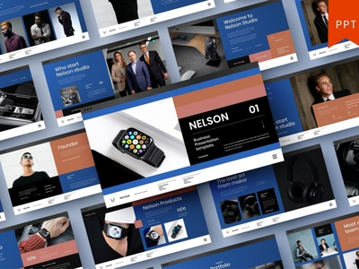 Nelson Multipurpose Template template presentation powerpoint multipurpose template multipurpose keynote google slides web development web design website modern clean unique corporate company portfolio photography studio pitch deck colorful