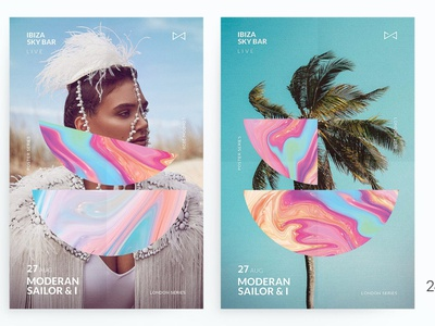 Face & Color Poster presentation multipurpose website modern template photo minimal party club neon exotic geometric liquid portrait people instagram story flyer poster summer
