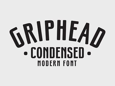 Griphead Font concert music music festival condensed modern branding logo badge font design typeface font typography type