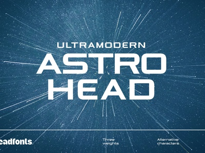 Astrohead geometric sans serif typeface geometric font clean font clean design sans serif font illustration design industrial display typeface typography headfonts font
