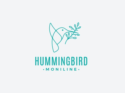 Production-ready asset files in vector AI, EPS and raster PNG Re illustration design graphic animals business identity business logo monoline hummingbird bird media craft work logo tamplate tamplate logo design logotype logo