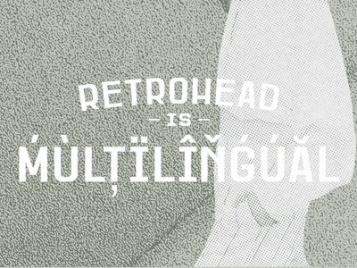 Retrohead Typeface   Font graphic design design serif font serif texture retro font vintage custom typography type headfonts font typeface