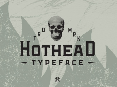Hothead Western Font professional business american culture vintage style modern font graphic design design custom typography type headfonts font typeface