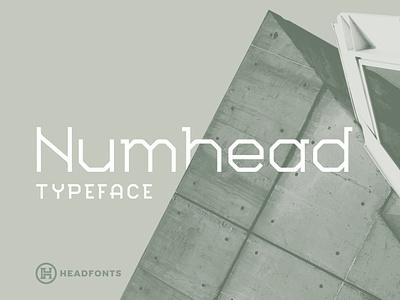 Numhead Typeface   Font professional geometric font slab serif font letters illustration design custom type typography headfonts font typeface
