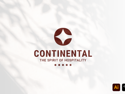 Continental professional instagram identity branding brand hotel continental media craft work headfonts design custom graphic design logo design logo