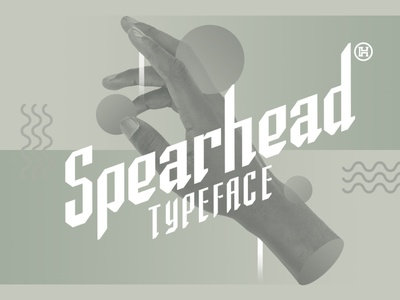 Spearhead Typeface   Font display font identity media professional modern sport font sans serif font clean font illustration design letters custom type typography headfonts font typeface