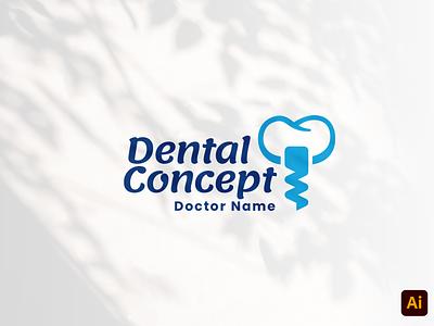 Dental Concept vector instagram media professional smile dental concept denatal identity business name craft work headfonts design type logo type logo design logo