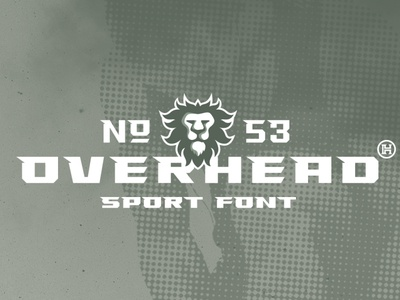 Overhead Typeface   Font professional branding modern geometric font illustration design letters custom typography type headfonts font typeface