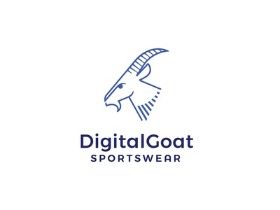 Digital Goat vctor media work craft professiomal illustration design headfonts animation goat sport wear logo sport sport business name branding logo tamplate tamplate logo design graphic design logo