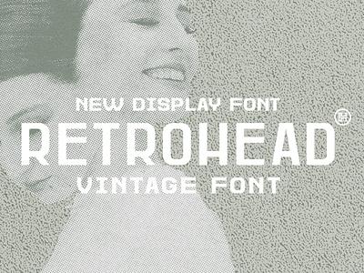 Retrohead Typeface   Font retro font professional graphic design business vintage font vontage illustration design letters custom typography type headfonts font typeface